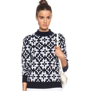 Equipment Femme Tayden Wool jacquard sweater